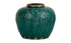 Embellished Turquoise Jar
