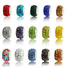 20pcs lot Beautiful Colorful Charm European Beads Fit For font b Pandora b font Style Bracelet