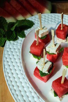 Watermelon Feta Mint Skewers 9 | Bites of Bri