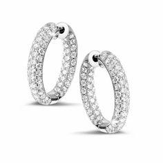 2.15 carats boucles d'oreilles diamant pavé