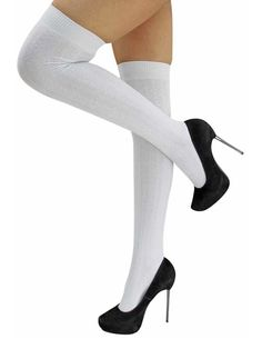 Classic in every way, these cable knit thigh high socks stay up and stay put. Soft knit material and cute design of the thigh highs make them perfect to complete a cute outfit. Socks measure 3.5 inches wide, un-stretched. Measures 25.5 inches long, open end to tip of toe, un-stretched. Plenty of stretch for added comfo