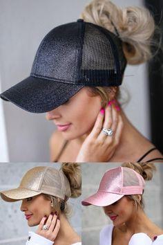 BOEKWEG Women s ponytail hat. Fashionable hats made for ponytails ... 073e100c5593