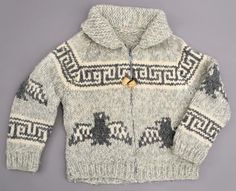 Cowichan knit sweater  Knitter unknown, Vancouver Island, c. late 1920s