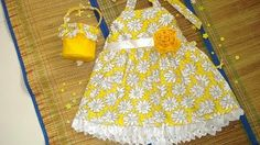 Free Printable Girls Dress Pattern | Sewing Pattern Sun Dress with Flower Basket ( pdf for sale), 2 to 9 ...