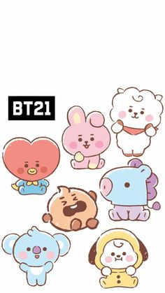 Bts Chibi, Foto Bts, Bts Photo, Vs Pink Wallpaper, Aztec Wallpaper, Screen Wallpaper, Album Bts, Bts Drawings, Line Friends