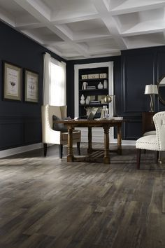 CoreLuxe waterproof floors have the authentic look of hardwood but can be installed where real hardwood cant. Engineered Vinyl Plank (EVP) has a vinyl veneer rigid core for stability & durability. Modern Wood Floors, Living Room Hardwood Floors, Maple Hardwood Floors, Grey Wood Floors, Living Room Wood Floor, Hardwood Types, Living Rooms, Waterproof Vinyl Plank Flooring, Engineered Vinyl Plank