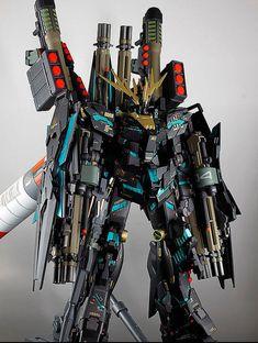 MG Full Armor Unicorn Gundam Banshee [Ver.覚醒] w/Base Jabber: Remodeling Work by… Unicorn Gundam, Wallpaper Size, Gundam Model, Plastic Models, Remodeling, Base