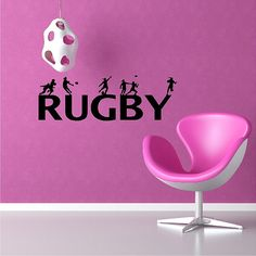 Rugby Wall Decal Removable Rugby Wall Sticker by eyecandysigns