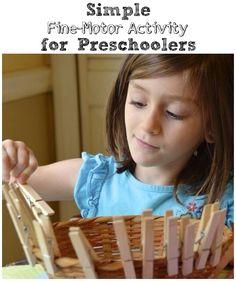 Simple Fine-Motor Activity for Preschoolers