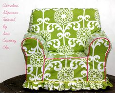 Learn how to create a pattern for a slipcover regardless of the size or shape of your chair