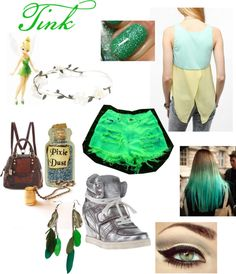 """Punk Rock Tinkerbell Outfit"" by casey-carpenter on Polyvore"