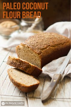 Here is a Paleo Coconut Flour Bread Recipe that incorporates raw honey and flax meal to make it taste like sweet honey wheat bread.