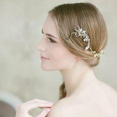 Bridal hair bun wrap | LavenderByJurgita