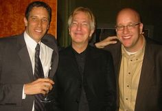 """Doug Olear, Alan Rickman and Executive producer Eric Hetzel at the HBO premiere of the Emmy nominated """"Something The Lord Made."""""""