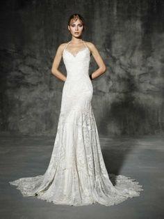 vestido de noiva LAUREN de yolancris boho folk 2016 com decote romantico e trabalho em renda