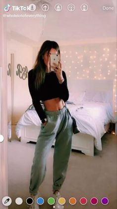 How to style sweatpants, cute sweatpants casual outfit