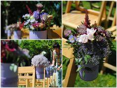Decoración para ceremonia boda rústica en Finca Sansui Zaragoza. Mayula Flores