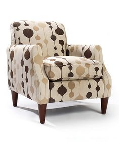 Another great find on #zulily! Brown Geometric Astor Chair #zulilyfinds