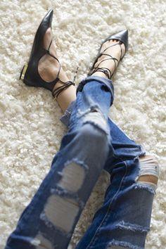 Zara Jeans, Aquazurra Flats
