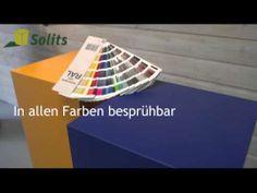 Sockel verfügbar in jeder RAL Farbe, Solits. Produktvideo MDF Farbe. www.sockelundsaeulen.de