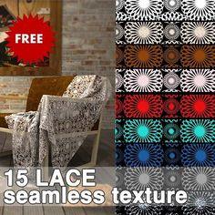 Packs  - TEXTURES - Fabrics - LACE textures collection 00003 | Sketchuptexture
