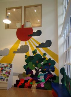 Mike Ayres Design Tactile Wall Panels and Wall Murals for Special Needs, Doctors and Dentist offices. Mural Wall Art, Mural Painting, Cubs Room, Sensory Wall, Sensory Boards, Kindergarten Interior, Art Grants, School Murals, Murals Street Art