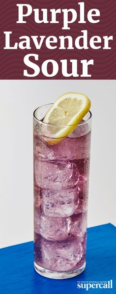 When steeped with water, the tea turns bright blue, but when mixed with lemon juice, it changes to a dreamy purple. The drink's flavor matches its floral color: Made with lavender syrup and mild New Amsterdam gin, it's perfect for sipping in a spring garden