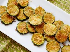 Who needs potato chips? These light Zucchini Parmesan Crisps are light and healthy (from CookingChannelTV.com).