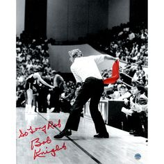 Bob Knight Signed Throwing Chair B&W w Red Chair 8x10 Photo w So Long Ref Insc. - Basketball Hall of Famer Bob Knight has personally hand-signed this 8x10 photo. Steiner Sports is the Official Memorabilia Partner of Bob Knight.100% Guaranteed AuthenticInscribed So Long RefIncludes Steiner Sports Certificate of Authenticity Features Tamper-Evident Steiner HologramPerfect Collectors Item. Gifts > Collectibles > Ncaa Memorabilia. Weight: 1.00