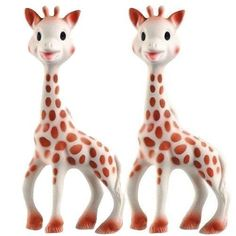 Made Of Natural Rubber - Vulli Sophie the Giraffe Teether Set of 2 Vulli http://www.amazon.com/dp/B00A8PXH7K/ref=cm_sw_r_pi_dp_LPe6ub1MK3AWV