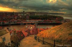 Stephen Candler Photography ¦ Google+ ¦ Facebook ¦ Twitter  View of Whitby from the steps to the Abbey, North Yorkshire, England