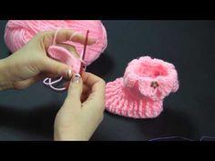 Scarpette Baby passo a passo ad uncinetto - parte 1 - ( Video Tutorial ) - YouTube