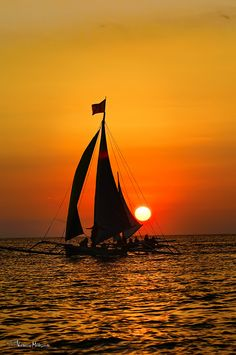 Sunset in Boracay, Philippines