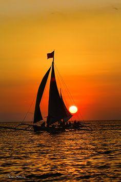 Sunset in Boracay, Philippines