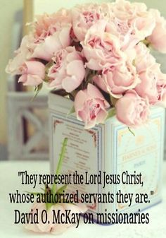 Missionaries represent the Lord Jesus Christ...