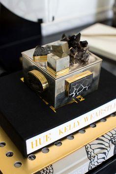 Pyrite White Bronze Bauble Box - Kelly Wearstler