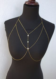 Free Shipping Bra Chain Gold&Silver SILVIA by NightingaleWorkshop