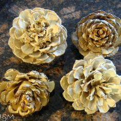bleached pinecones decor, crafts, decoupage, Lo and behold once open the pinecones were absolutely beautiful