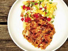 Plantain-Crusted Mahi mahi with Pineapple Salsa ... Okay if you insist.