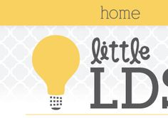 Little LDS Ideas: {Sharing Time} Prophets & Apostles Show us How to Serve.