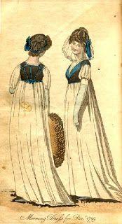 The Ladies Monthly Museum, 1799 sleeveless bodice over white dress 18th Century Clothing, 18th Century Fashion, Regency Dress, Regency Era, Old Man Hat, Medieval Fashion, Beautiful Dream, Historical Costume, Fashion Plates