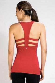 This tank offers full coverage and support but still adds some sexy back lines.