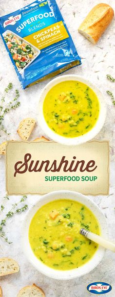 For a fresh meal idea that's filled with your favorite savory seasonings, this summer soup has everything you're looking for—like cilantro, turmeric, BIRDS EYE® Steamfresh® Chickpeas & Spinach Superfood Blends, & cauliflower. Thanks to the vibrant flavors of seasonal vegetables, this Sunshine Superfood Soup recipe is sure to put a smile on your family's faces. And by finding everything you need at The Kroger Family of Stores, getting a delicious and healthy dinner on the table just got…