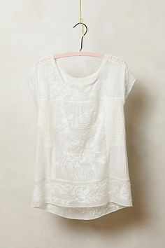 Flashback Embroidered Tee  #anthropologie