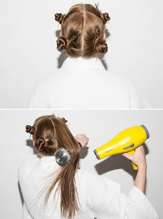 Section your hair into quadrants to speed up the blow-drying process.