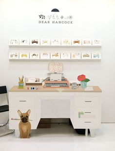 Dear Hancock Desk at the National Stationary Show | always inspired by the creativity at Dear Hancock