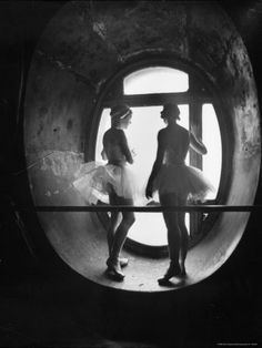 Silhouetted Ballerinas During Rehearsal for Swan Lake at Grand Opera de Paris by Alfred Eisenstaedt. Photographic print from the LIFE collection at Art.com.