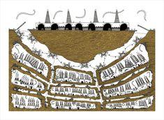 Italo Calvino's 'Invisible Cities', Illustrated (Again),Dorotea. Image © Karina Puente Frantzen