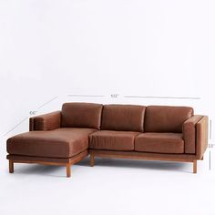 Dekalb Leather 2-Piece Chaise Sectional | west elm