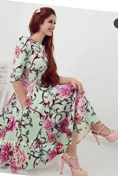 5d39706684  mustachestore  dress  vestido  estampa  lindo  rosas  flores  floral  moda   modesta  paratudoqueelavaipassar  gospel  cristã  evangélica  rose   pisamenos ...